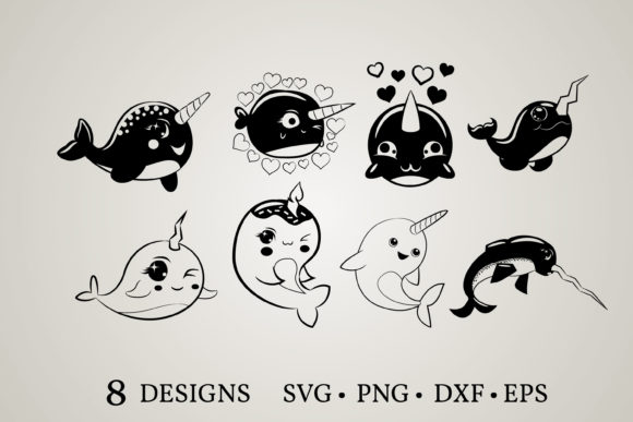 Narwhal Clipart Bundle  Graphic Print Templates By Euphoria Design