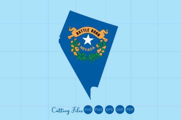 Download Free Nevada State With Flag Background Graphic By Hd Art Workshop for Cricut Explore, Silhouette and other cutting machines.