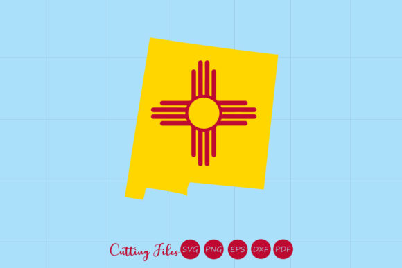 Download Free New Mexico State With Flag Background Graphic By Hd Art Workshop for Cricut Explore, Silhouette and other cutting machines.