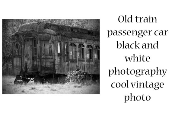 Download Free Old Train Passenger Car Black And White Graphic By A Design In for Cricut Explore, Silhouette and other cutting machines.