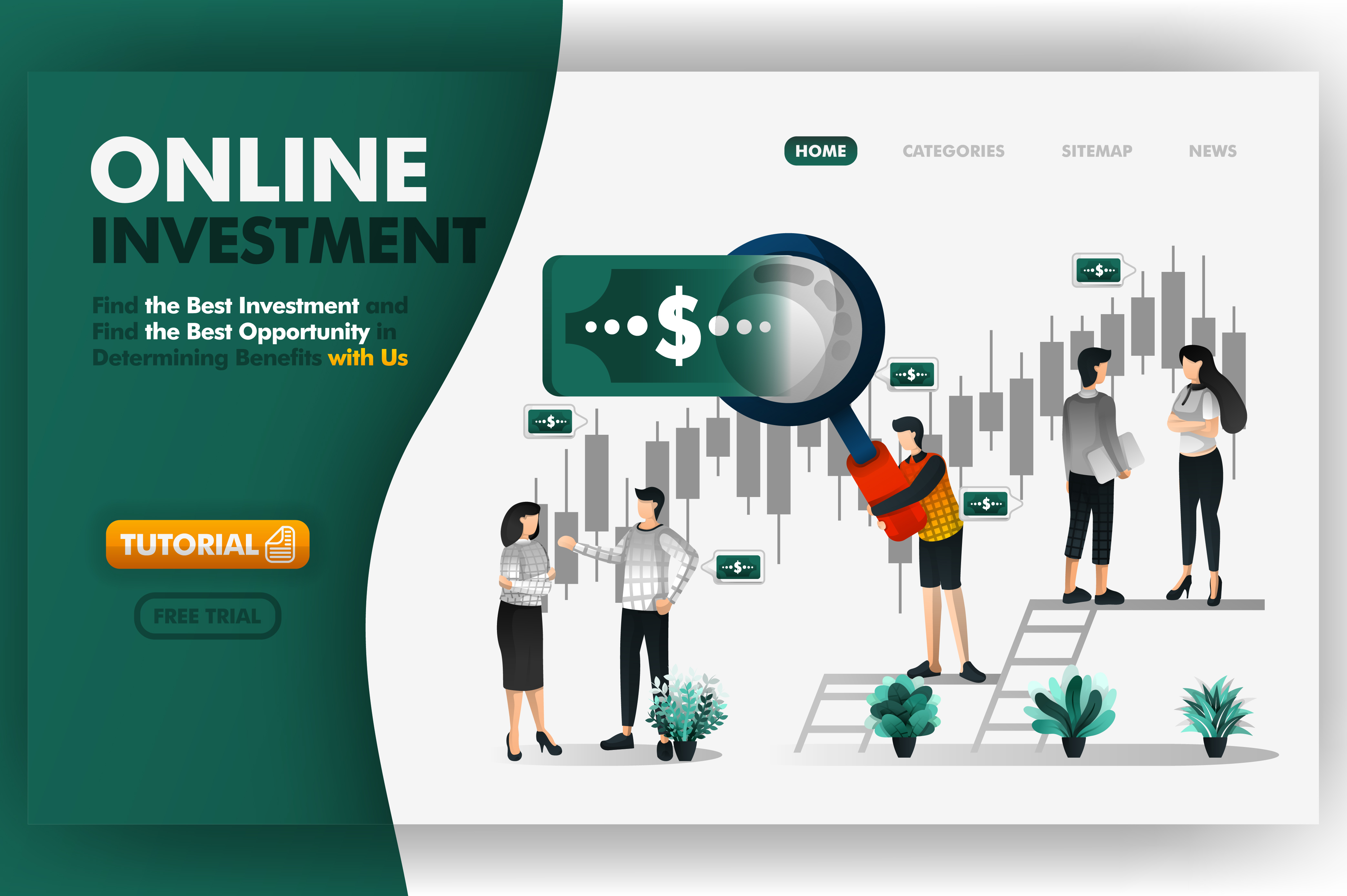 Download Free Online Investment And Banking Vector Graphic By Setiawanarief111 SVG Cut Files