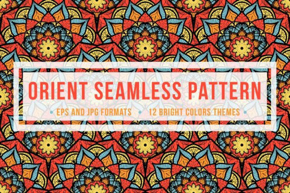 Download Free Orient Seamless Pattern Graphic By Barsrsind Creative Fabrica for Cricut Explore, Silhouette and other cutting machines.