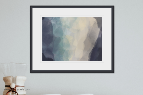 Download Free Pastel Blue Printable Wall Art 5 Sizes Graphic By Artsbynaty for Cricut Explore, Silhouette and other cutting machines.