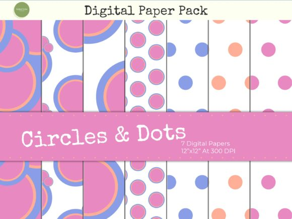 Download Free Yellow Circles And Polka Dots Paper Pack Graphic By Gifted Tribe for Cricut Explore, Silhouette and other cutting machines.