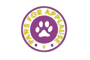 Paws for Applause Embroidery Animal Quotes Embroidery Design By Sun At Night Studios