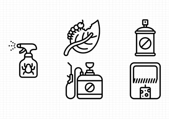 Pest Control Graphic Icons By sayangnadyapkm3