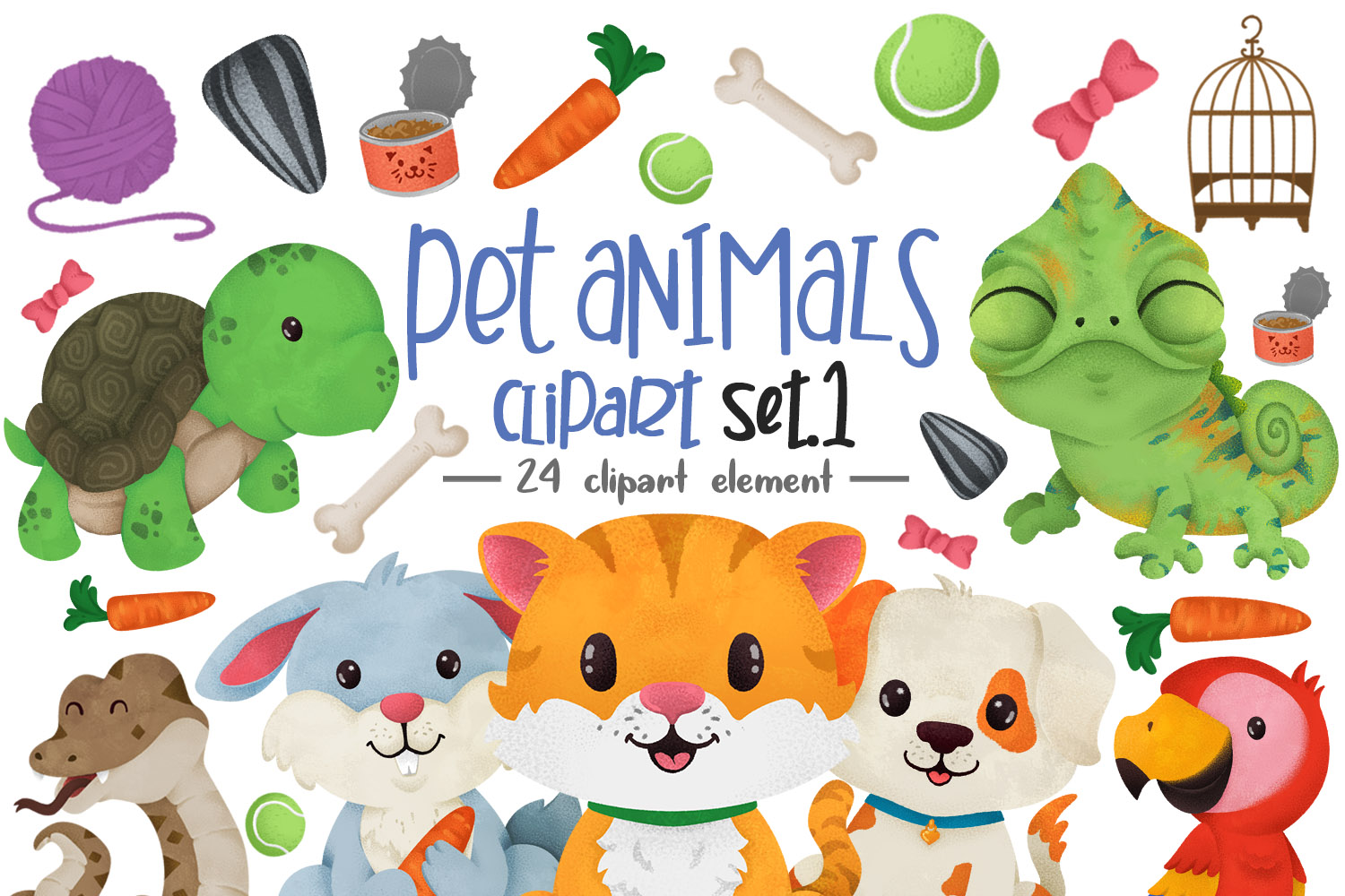 Download Free Pet Animals Clipart Graphic By Accaliadigital Creative Fabrica SVG Cut Files