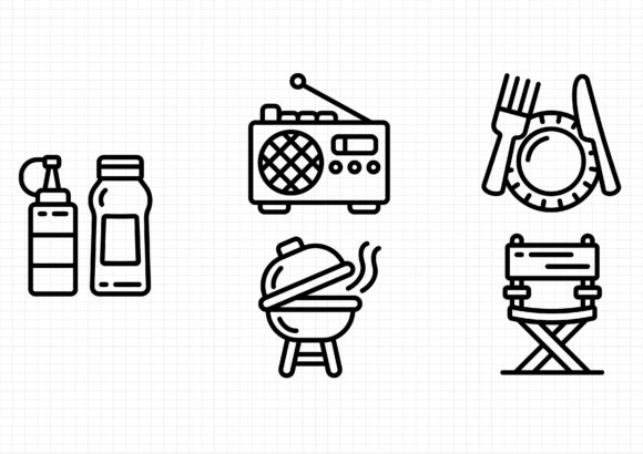 Picnic Graphic Icons By sayangnadyapkm3