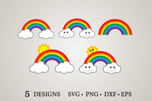 Rainbow Clipart Bundle Graphic Crafts By Euphoria Design