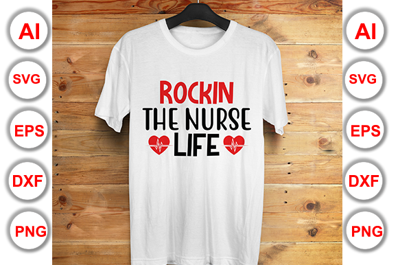Download Free Rockin The Nurse Life Graphic By Graphics Cafe Creative Fabrica for Cricut Explore, Silhouette and other cutting machines.