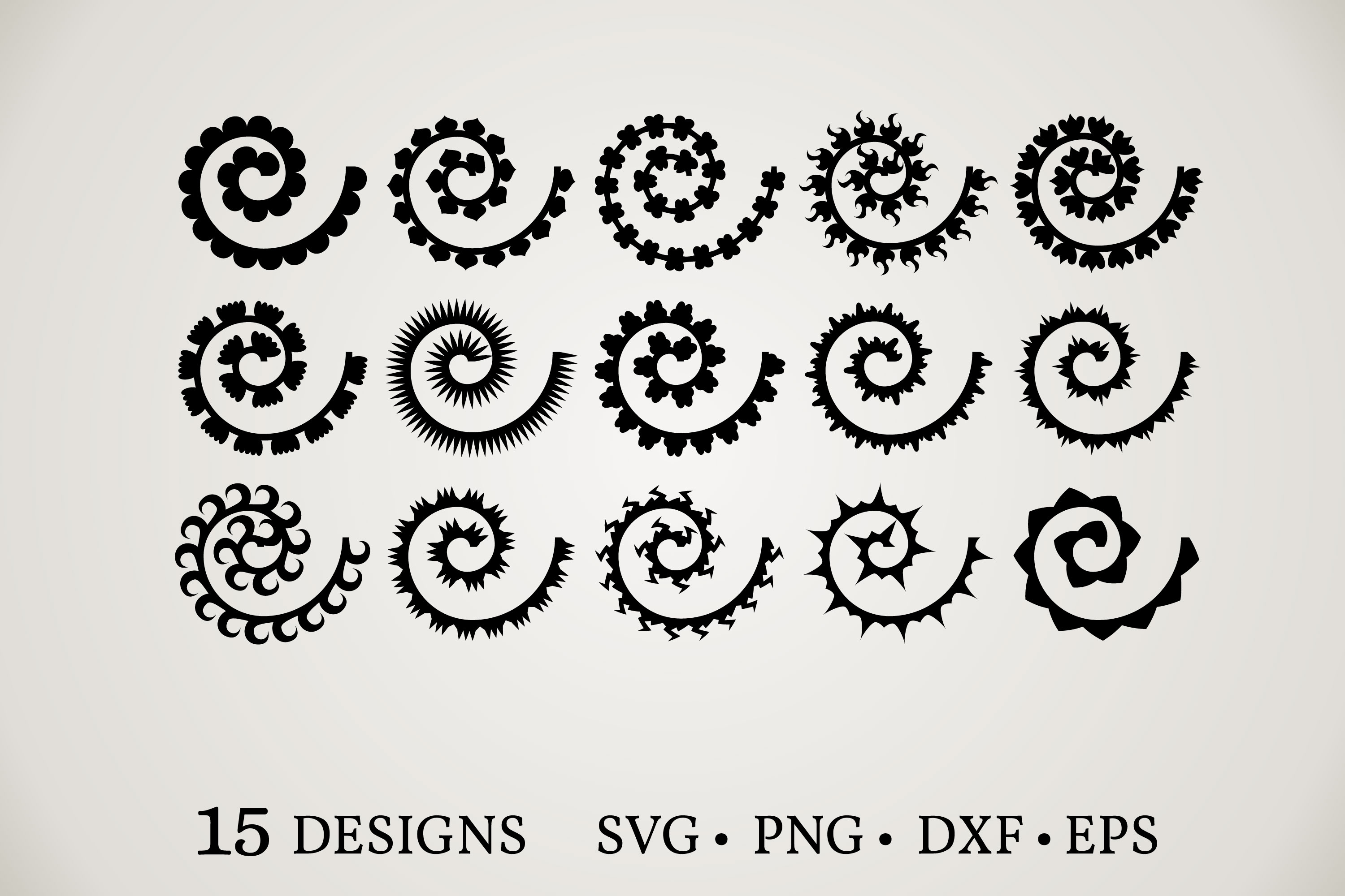 Rolled Paper Flowers SVG File