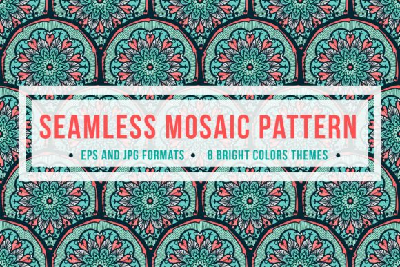 Print on Demand: Seamless Mosaic Pattern Graphic Patterns By barsrsind
