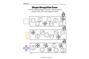 Shapes Recognition Game Graphic PreK By lifeandhomeschooling