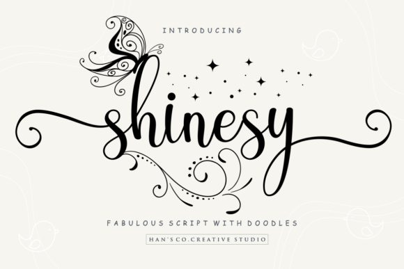 Print on Demand: Shinesy Script & Handwritten Font By HansCo