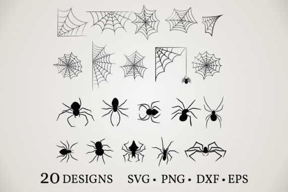 Spider Bundle  Graphic Print Templates By Euphoria Design