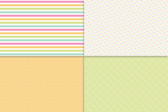 Download Free Spring Fling Digital Paper Graphic By Khdigi Creative Fabrica for Cricut Explore, Silhouette and other cutting machines.