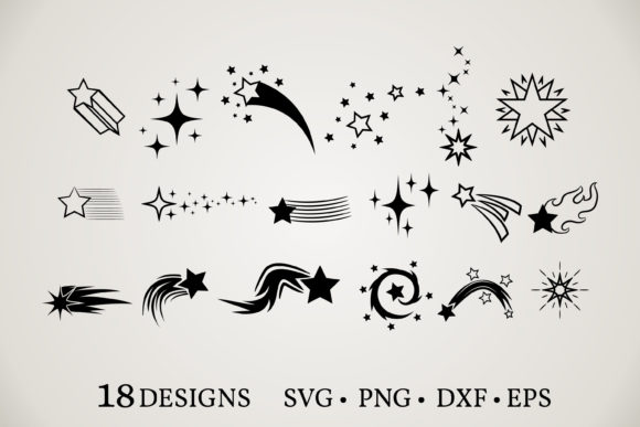 Download Free Stars Clipart Bundle Graphic By Euphoria Design Creative Fabrica for Cricut Explore, Silhouette and other cutting machines.