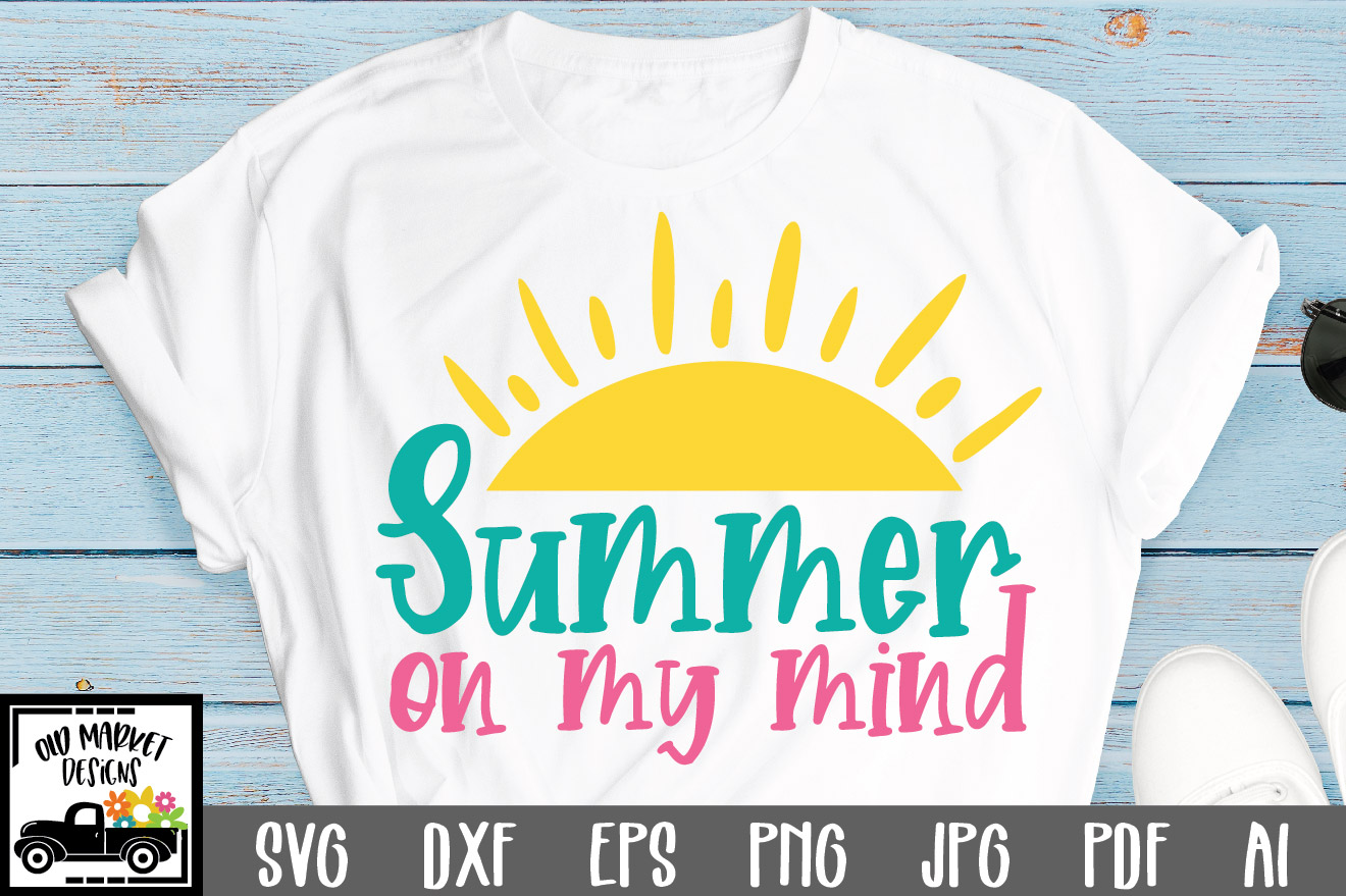 Download Free Summer On My Mind Cut File Graphic By Oldmarketdesigns for Cricut Explore, Silhouette and other cutting machines.