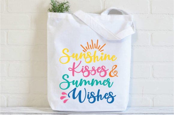 Download Free Sunshine Kisses Summer Wishes Graphic By Oldmarketdesigns for Cricut Explore, Silhouette and other cutting machines.