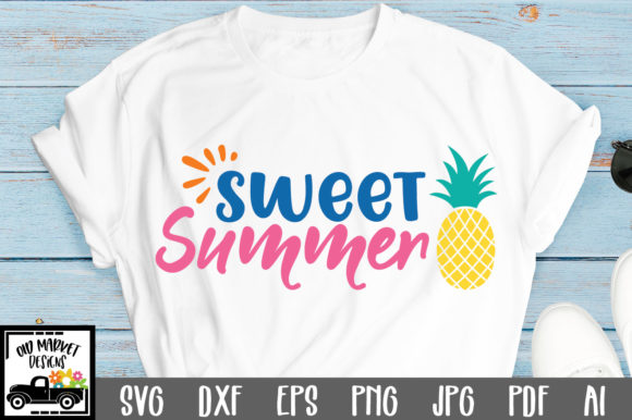 Download Free Sweet Summer Cut File Graphic By Oldmarketdesigns Creative Fabrica for Cricut Explore, Silhouette and other cutting machines.