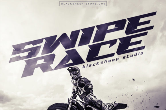 Print on Demand: Swipe Race Display Font By Blacksheep id
