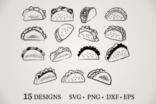 Download Free Taco Clipart Bundle Graphic By Euphoria Design Creative Fabrica for Cricut Explore, Silhouette and other cutting machines.