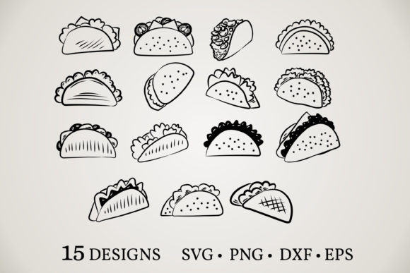 Taco Clipart Bundle  Graphic Print Templates By Euphoria Design
