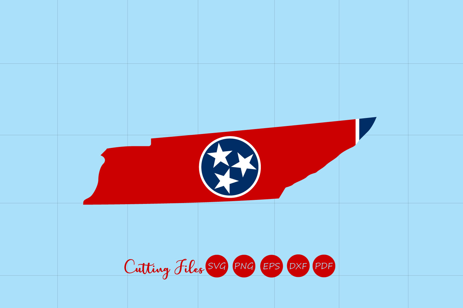 Tennessee State With Flag Background Graphic By Hd Art Workshop