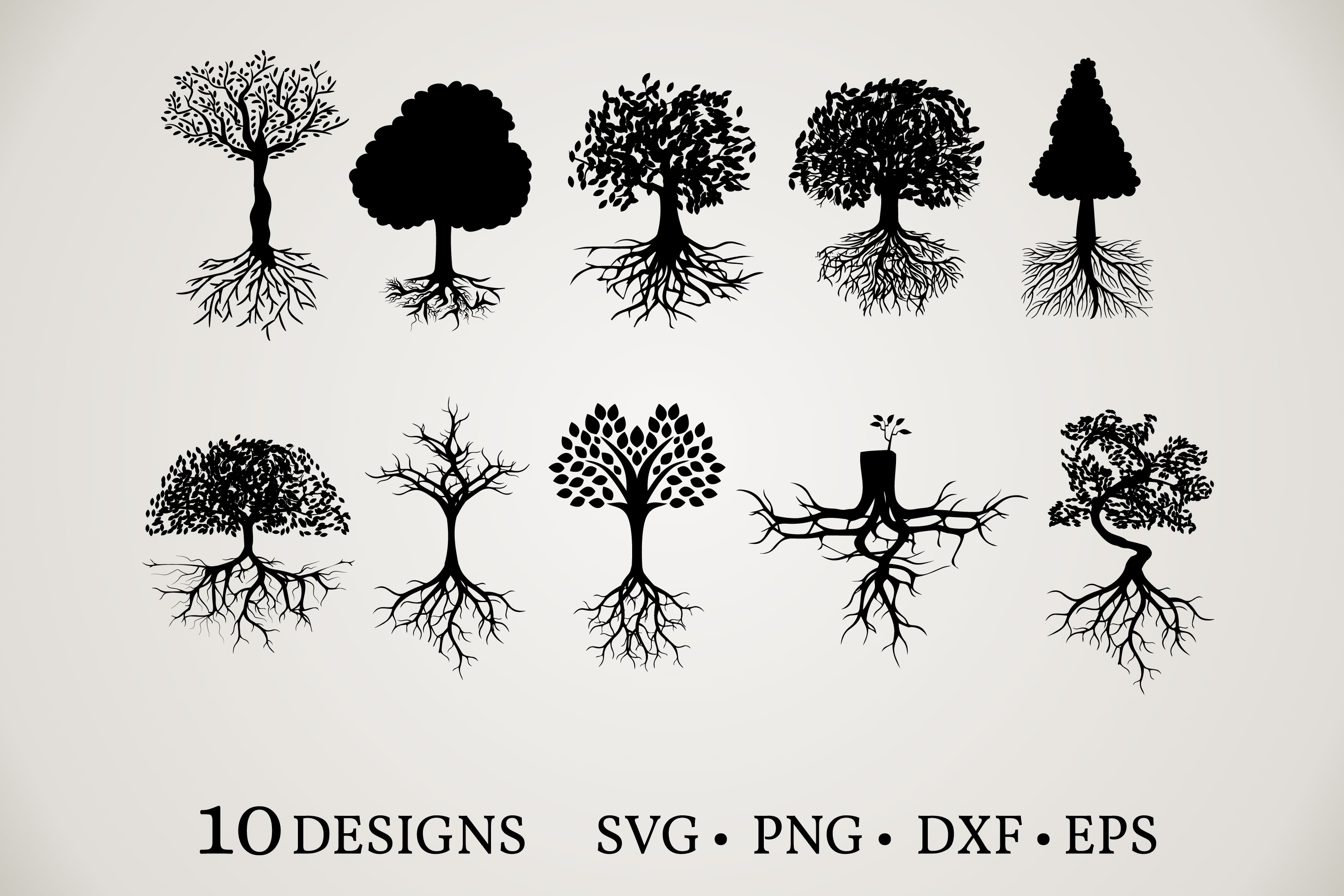 Download Free Tree Clipart Bundle Graphic By Euphoria Design Creative Fabrica for Cricut Explore, Silhouette and other cutting machines.