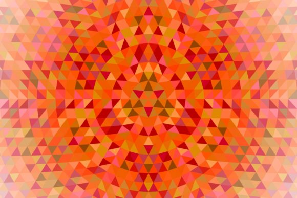 Triangle Mosaic Mandala Background Graphic Backgrounds By davidzydd