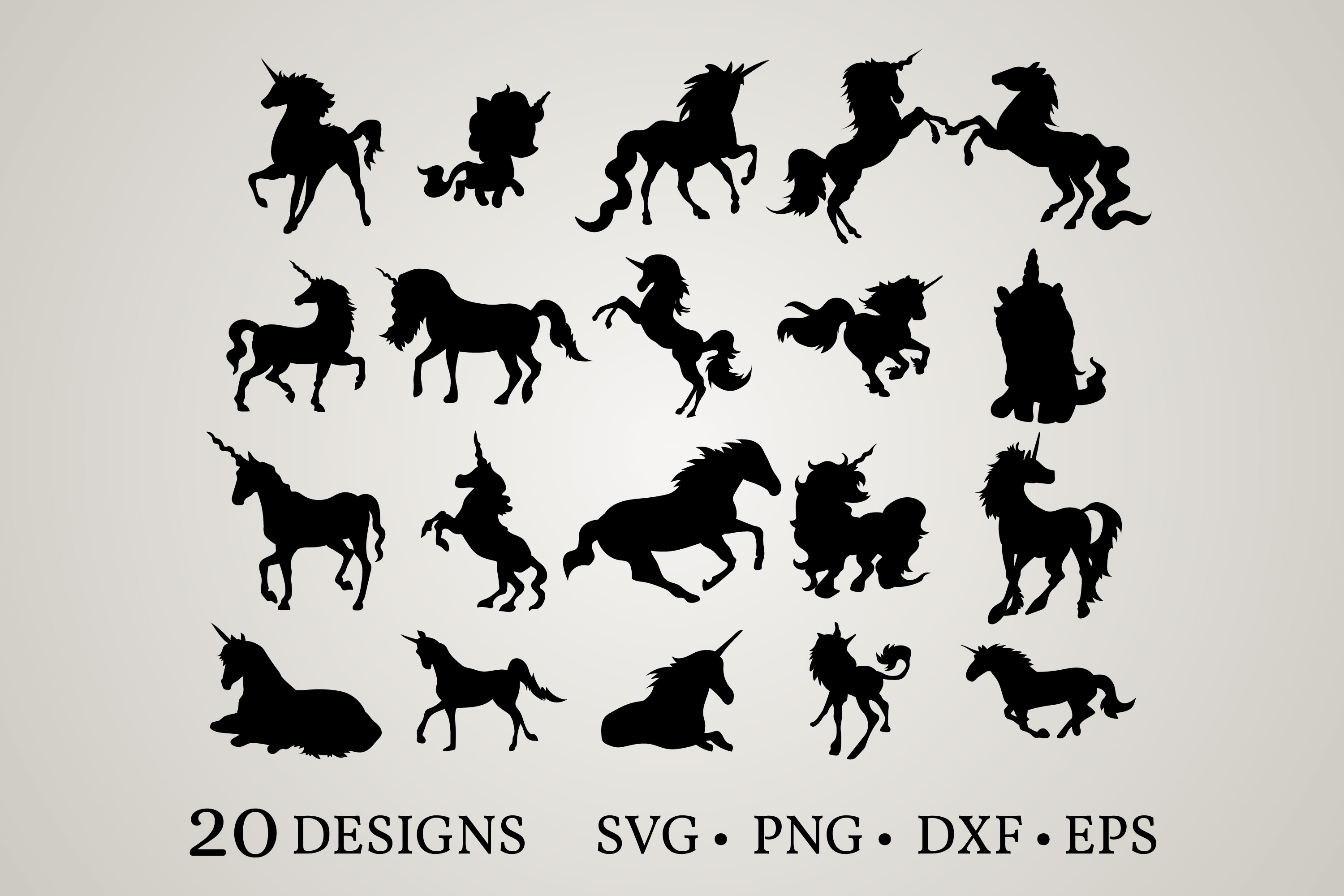 Download Free Unicorn Bundle Graphic By Euphoria Design Creative Fabrica for Cricut Explore, Silhouette and other cutting machines.