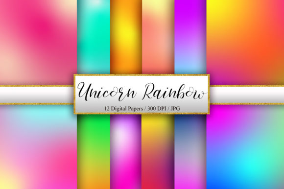 Unicorn Rainbow Background Graphic Backgrounds By PinkPearly