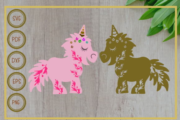 Download Free Unicorn Twin Unicorn Silhouette Graphic By Rizuki Store for Cricut Explore, Silhouette and other cutting machines.