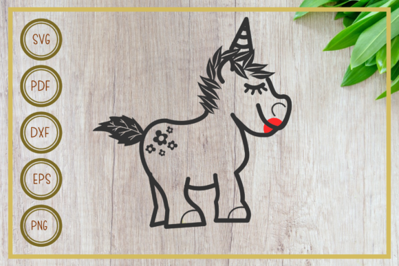 Download Free Unicorn Unicorn Caracter Silhouette Graphic By Rizuki Store for Cricut Explore, Silhouette and other cutting machines.