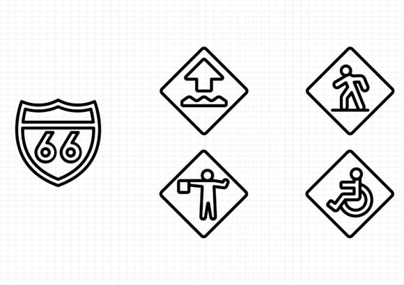 Download Free Us Road Signs Graphic By Sayangnadyapkm3 Creative Fabrica for Cricut Explore, Silhouette and other cutting machines.