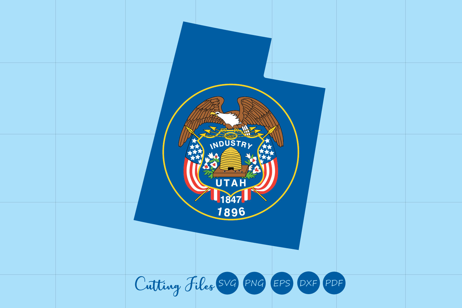 Download Free Utah State With Flag Background Graphic By Hd Art Workshop for Cricut Explore, Silhouette and other cutting machines.