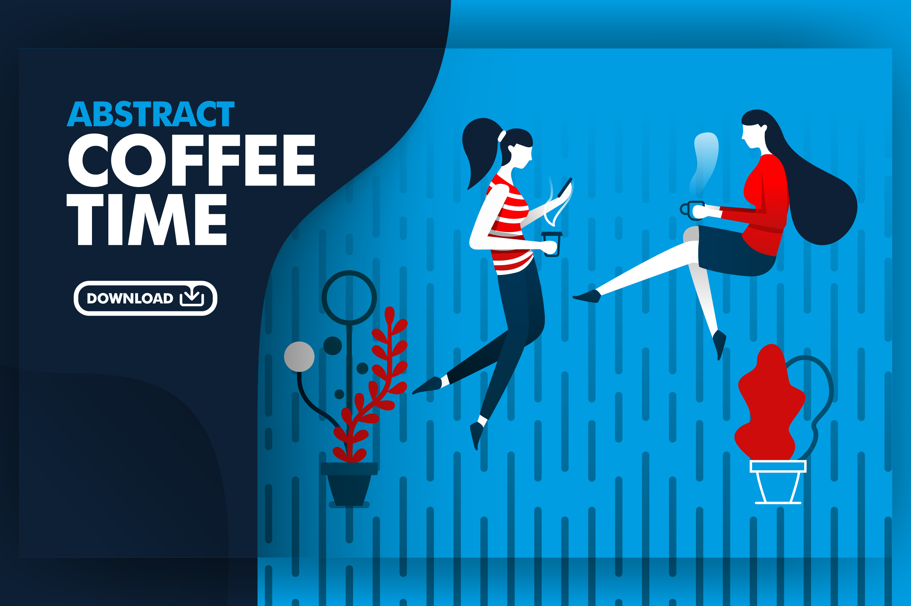 Download Free Vector Banner Of Relaxing Coffee Time Graphic By for Cricut Explore, Silhouette and other cutting machines.