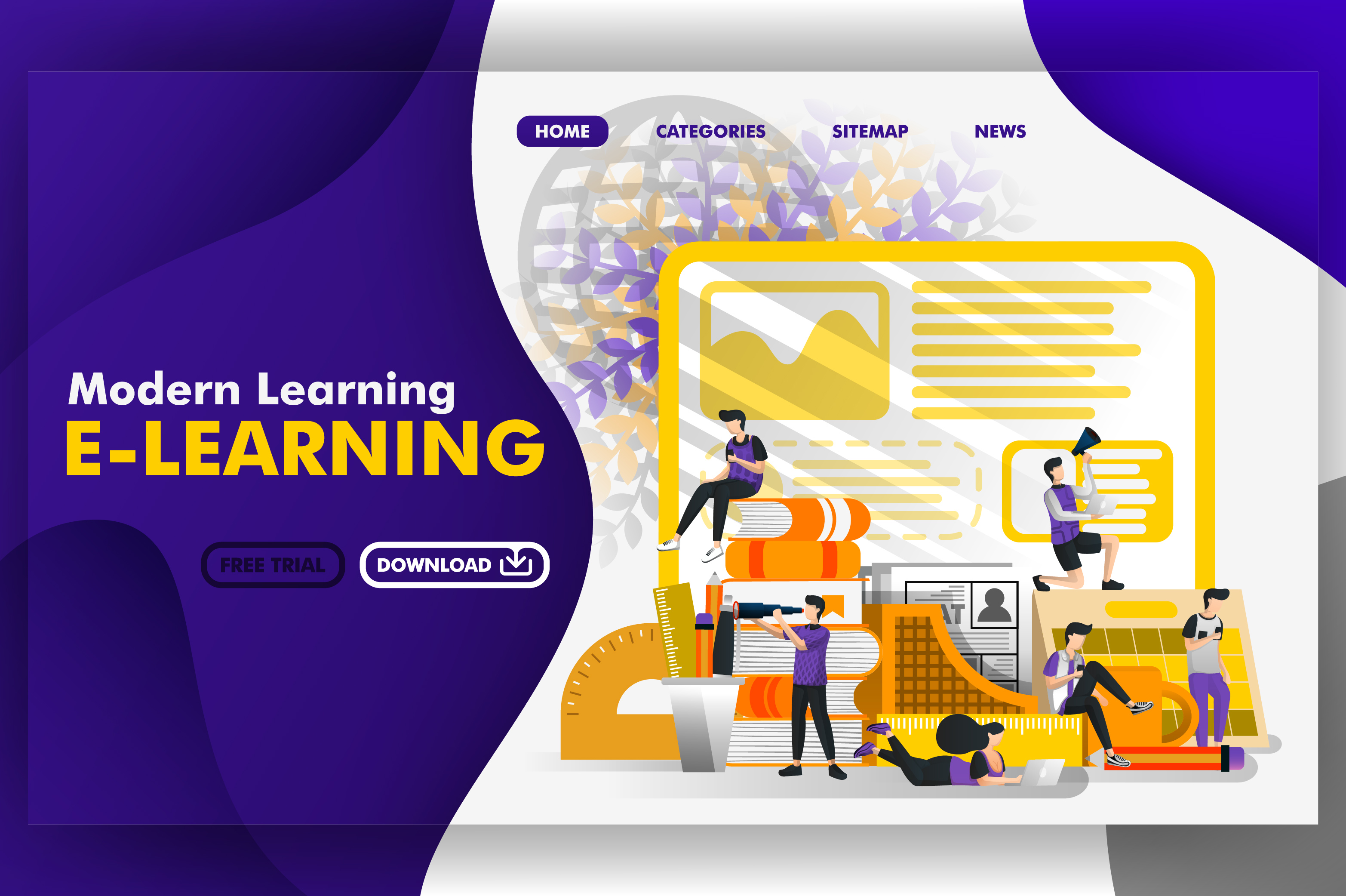 Download Free Vector Of Websites Modern Learning Graphic By Setiawanarief111 for Cricut Explore, Silhouette and other cutting machines.
