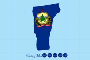 Download Free Vermont State With Flag Background Graphic By Hd Art Workshop Creative Fabrica SVG Cut Files
