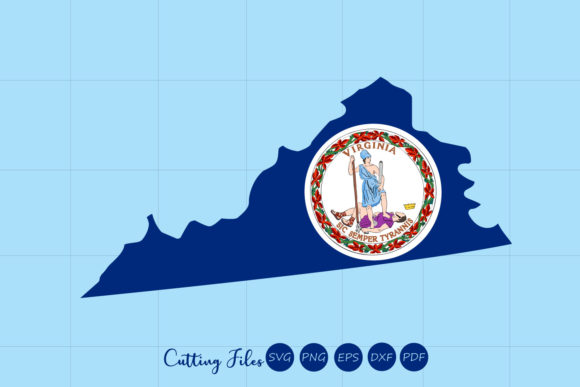 Virginia State With Flag Background Graphic By Hd Art Workshop