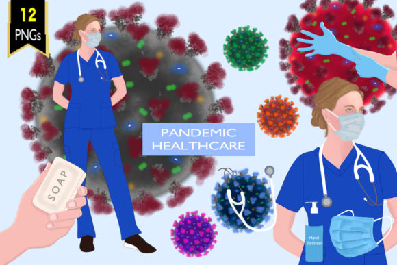 Virus Healthcare Quarantine Clipart Graphic Illustrations By Lynx and Fairytale