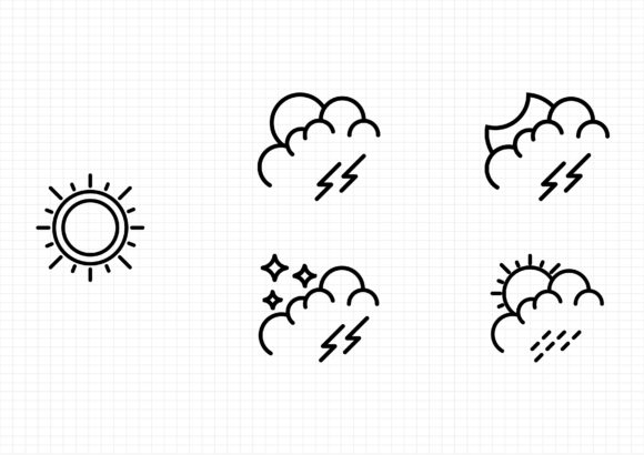 Weather Set Graphic Icons By sayangnadyapkm3