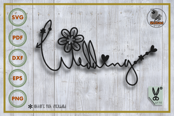 Download Free Wedding Freeletter Wedding Graphic By Rizuki Store Creative for Cricut Explore, Silhouette and other cutting machines.