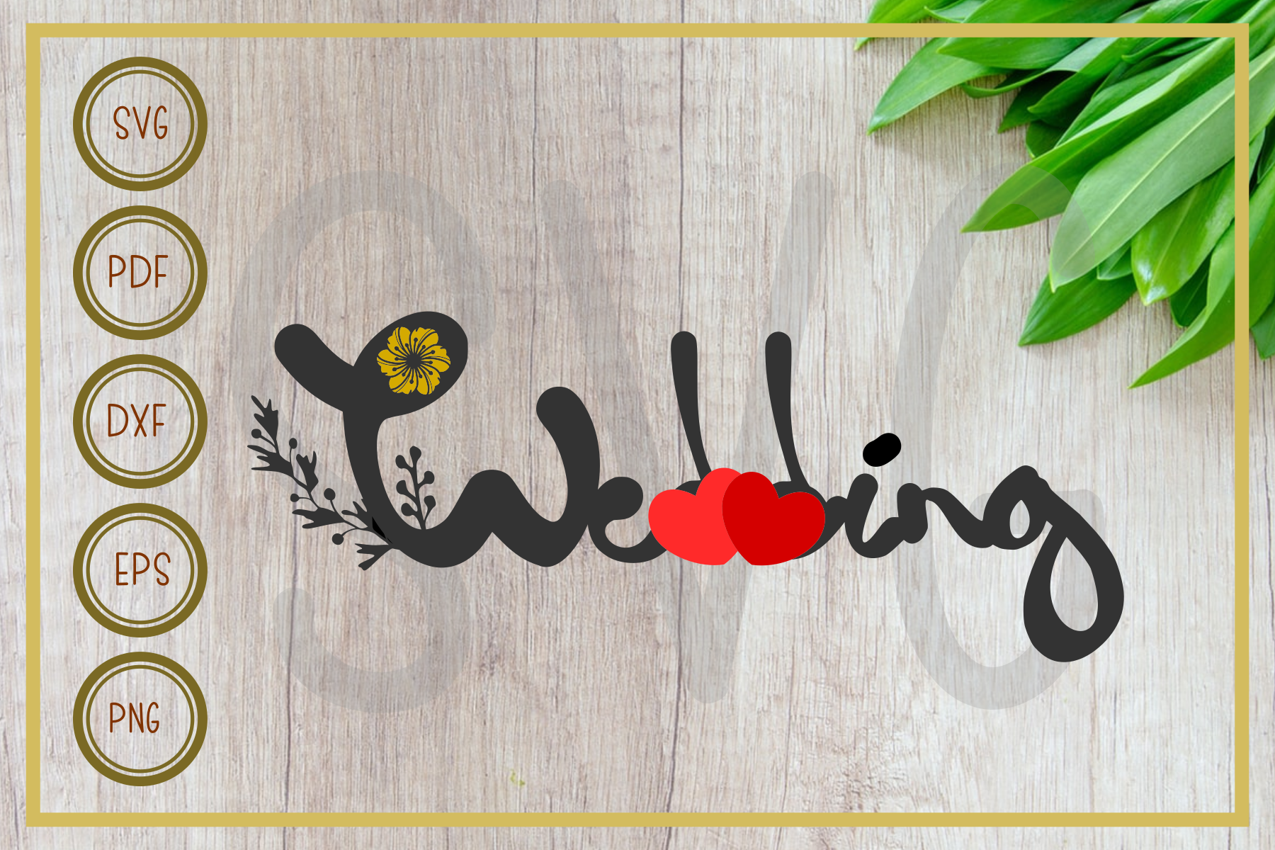 Download Free Wedding Letter Wedding Silhouette Graphic By Rizuki Store for Cricut Explore, Silhouette and other cutting machines.