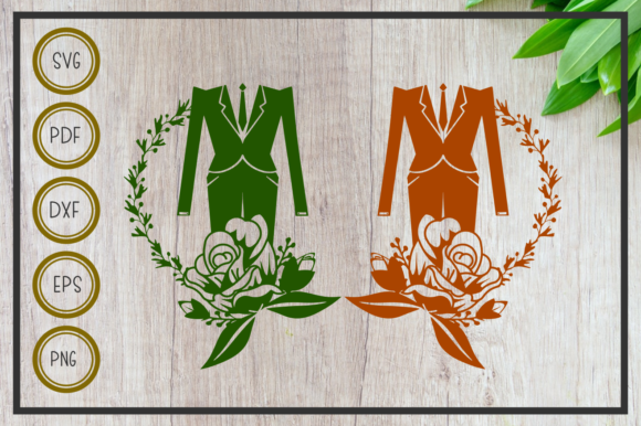 Wedding Tuxedo With Flower Cut File Graphic By Rizuki Store