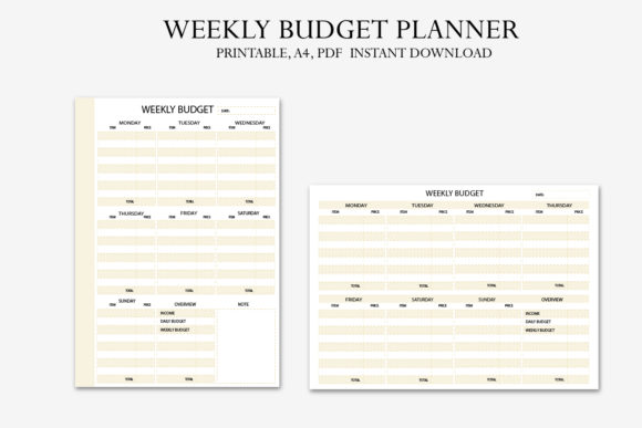 Download Free Weekly Budget Planner Graphic By Igraphic Studio Creative Fabrica for Cricut Explore, Silhouette and other cutting machines.