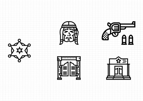 Download Free Wild West Set Graphic By Sayangnadyapkm3 Creative Fabrica for Cricut Explore, Silhouette and other cutting machines.