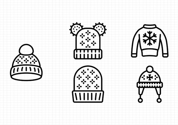 Winter Clothing Graphic Icons By sayangnadyapkm3