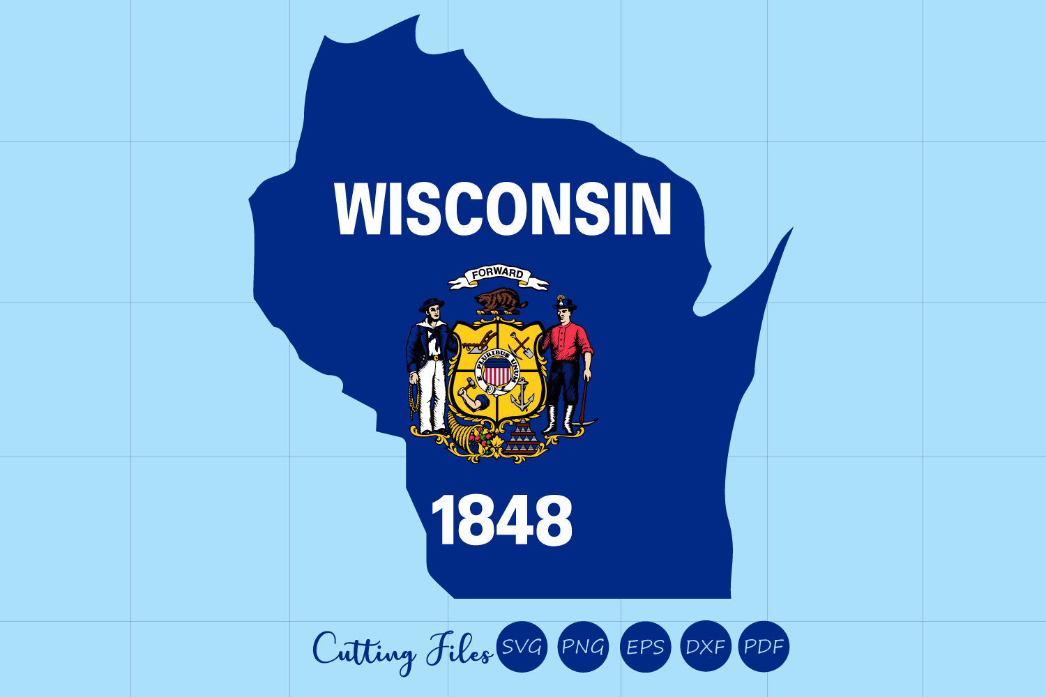 Wisconsin State With Flag Background Graphic By Hd Art Workshop Creative Fabrica
