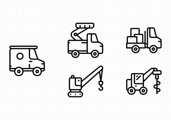 Download Free Work Vehicles Graphic By Sayangnadyapkm3 Creative Fabrica for Cricut Explore, Silhouette and other cutting machines.
